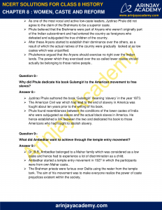 NCERT Solutions for Class 8 History Chapter 8 Women, Caste and Reform image 4