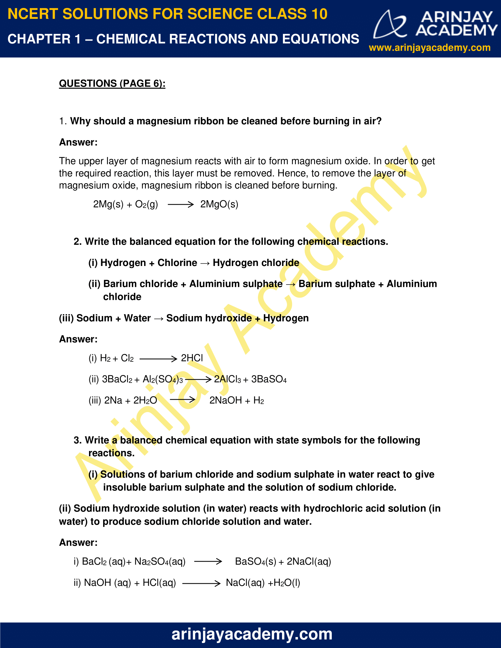 NCERT Solutions for Class 10 Science Chapter 1 image 1