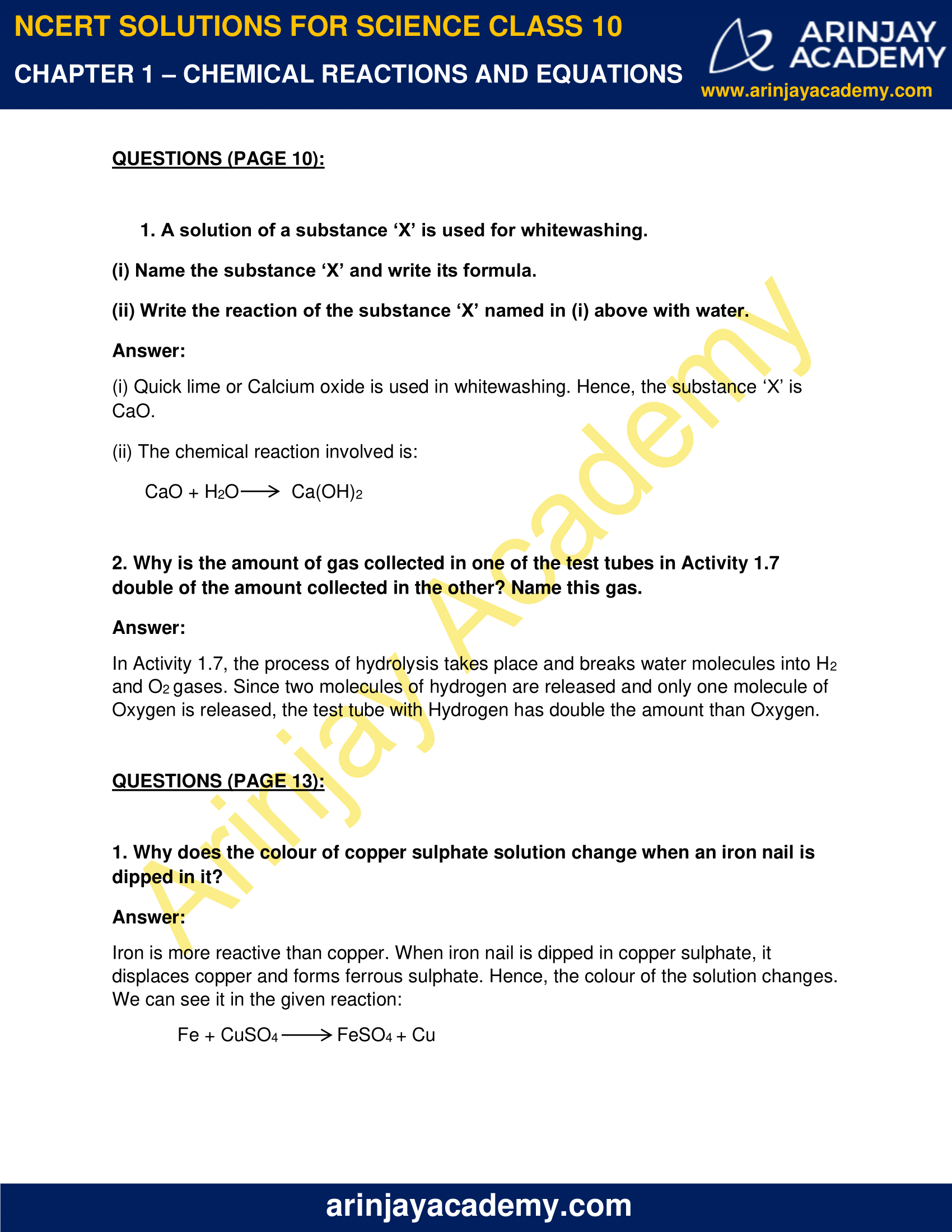 NCERT Solutions for Class 10 Science Chapter 1 image 2