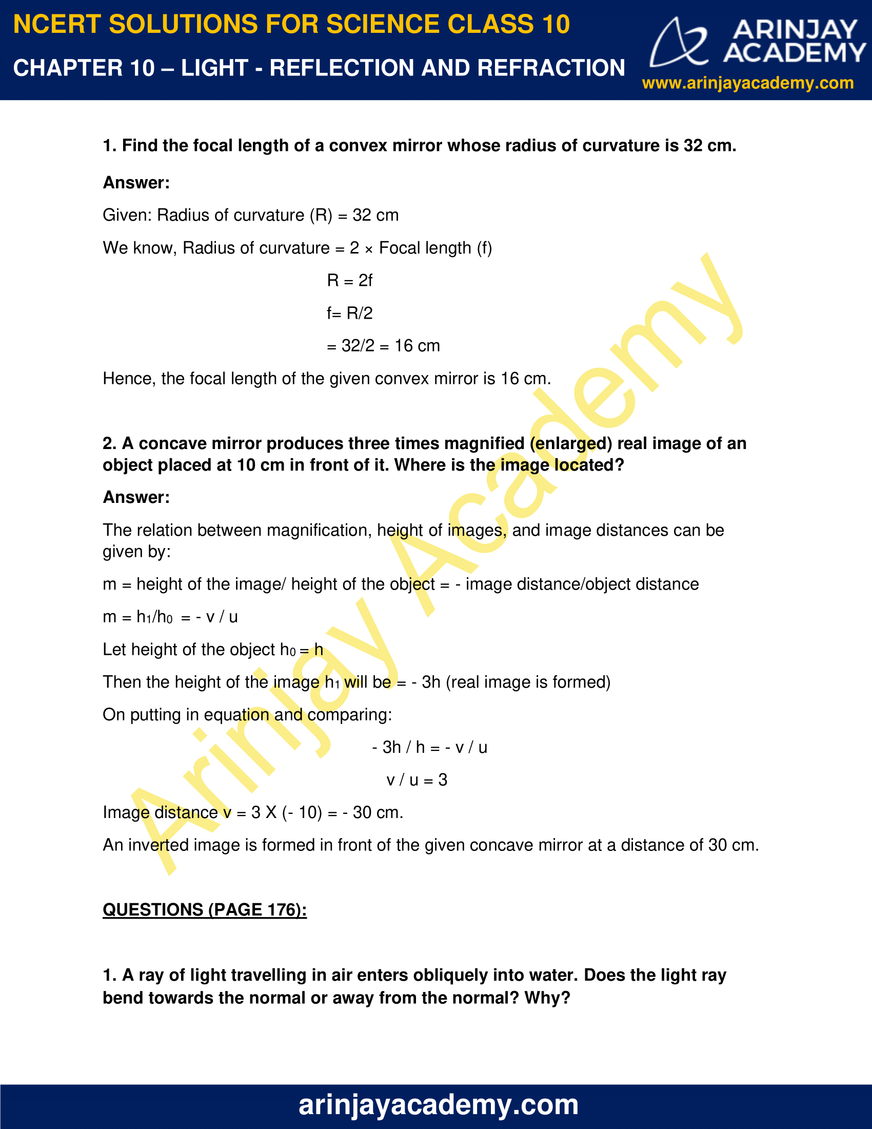 NCERT Solutions for Class 10 Science Chapter 10 image 2