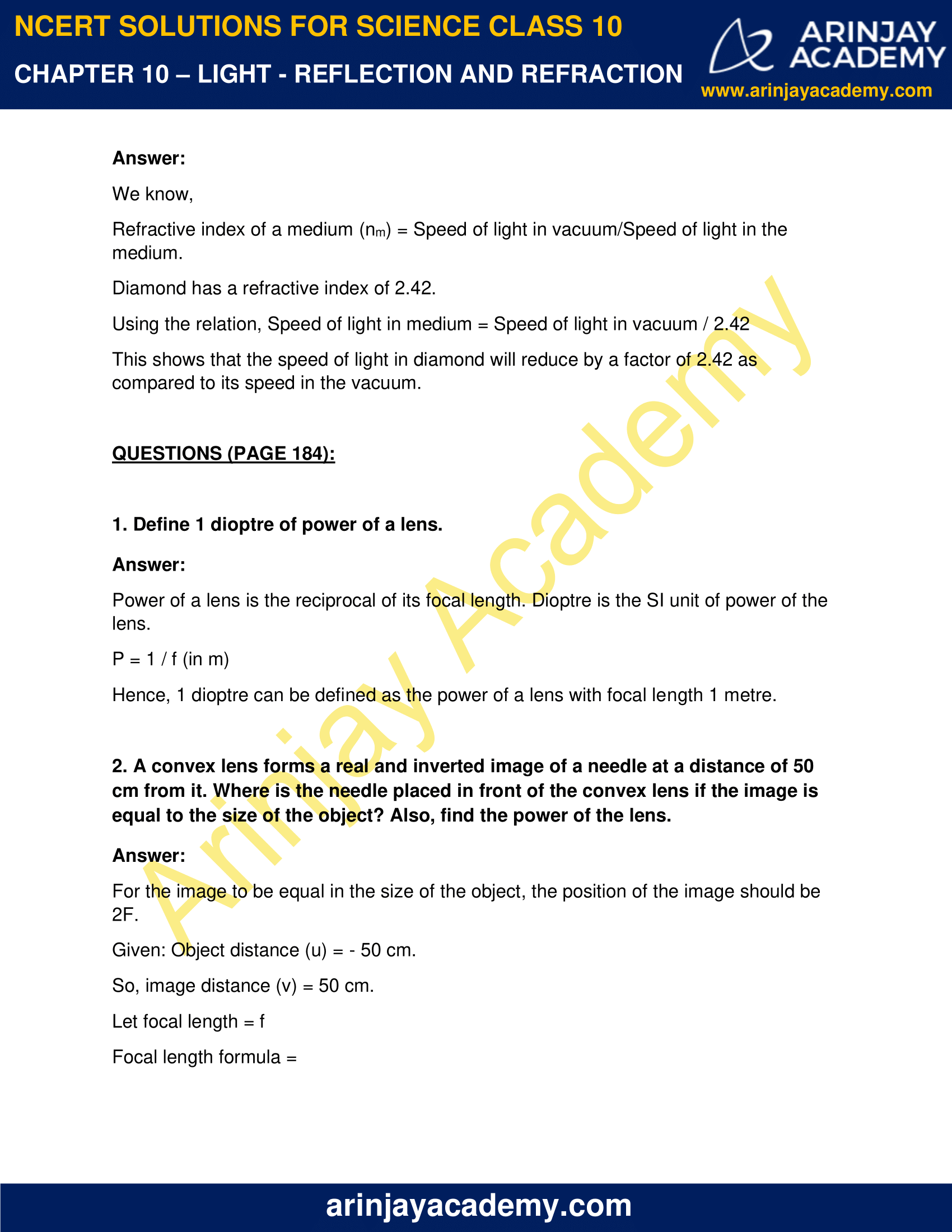 NCERT Solutions for Class 10 Science Chapter 10 image 5