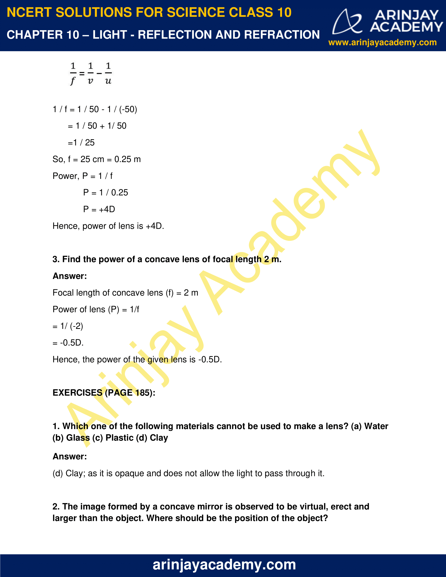 NCERT Solutions for Class 10 Science Chapter 10 image 6