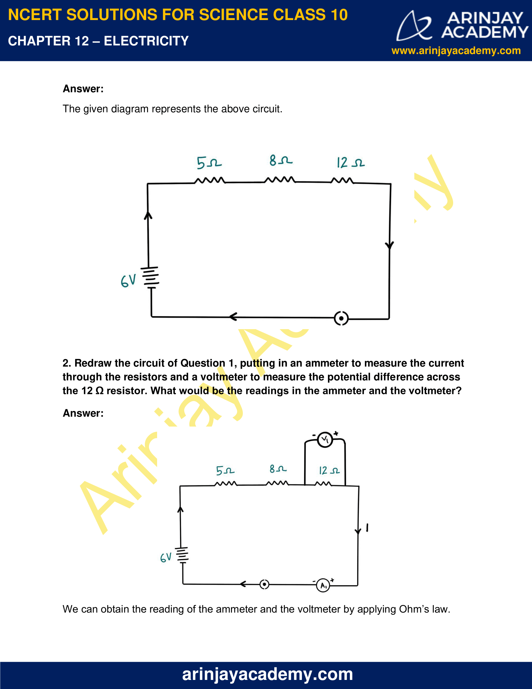 NCERT Solutions for Class 10 Science Chapter 12 Electricity image 6