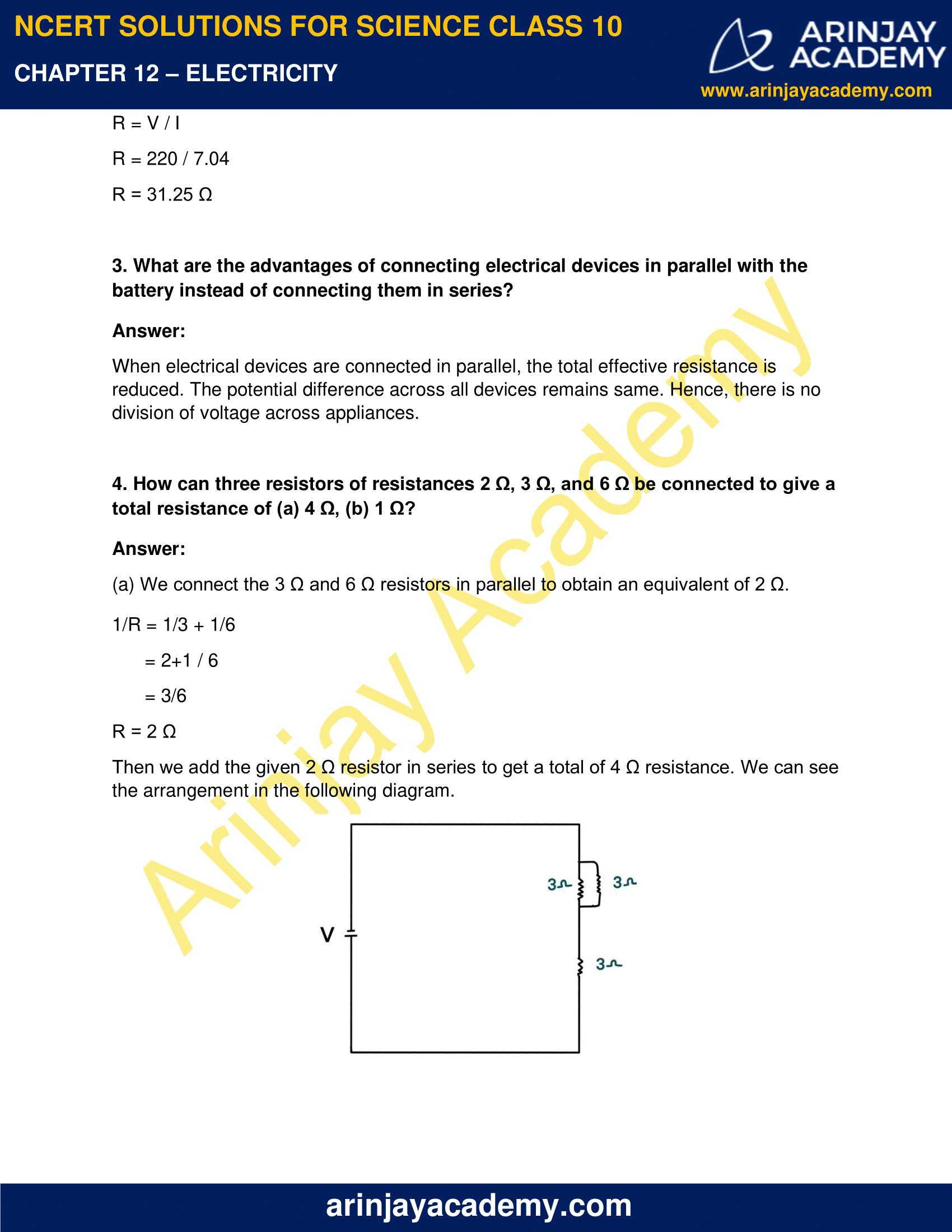 NCERT Solutions for Class 10 Science Chapter 12 Electricity image 9