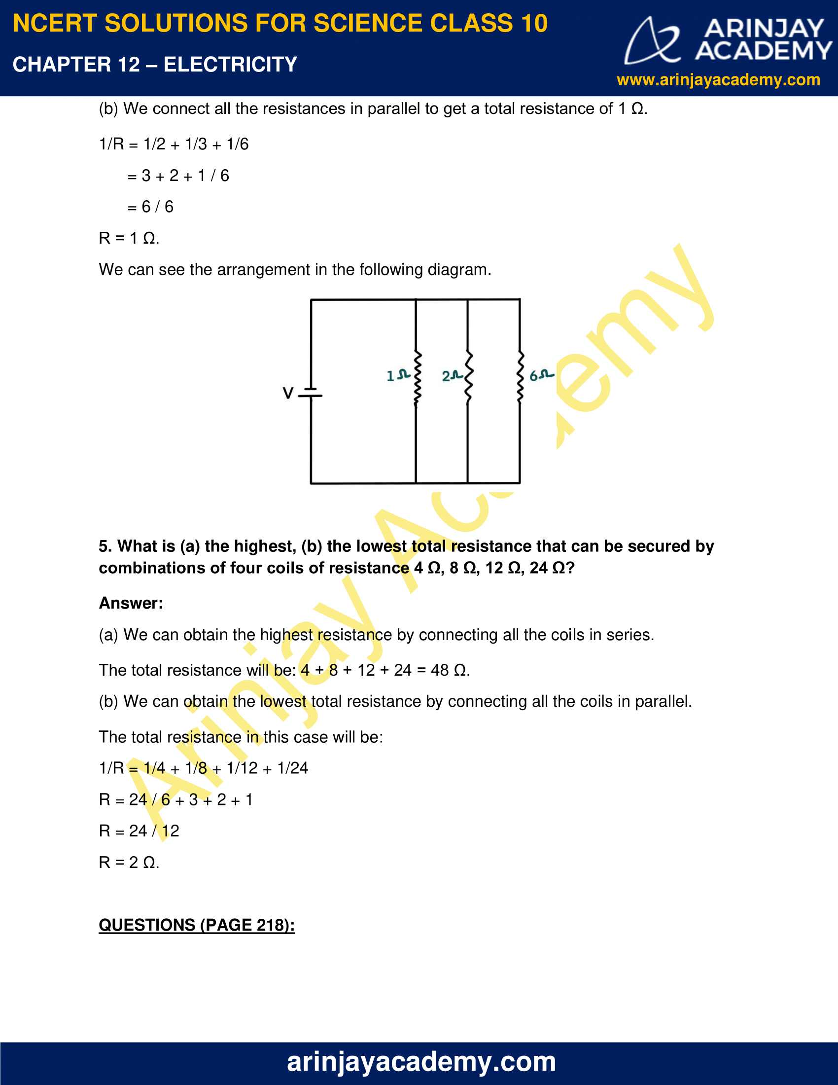 NCERT Solutions for Class 10 Science Chapter 12 Electricity image 10