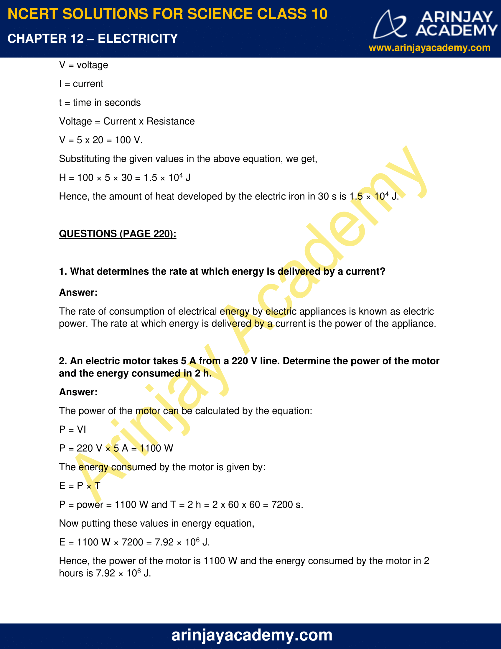 NCERT Solutions for Class 10 Science Chapter 12 Electricity image 12