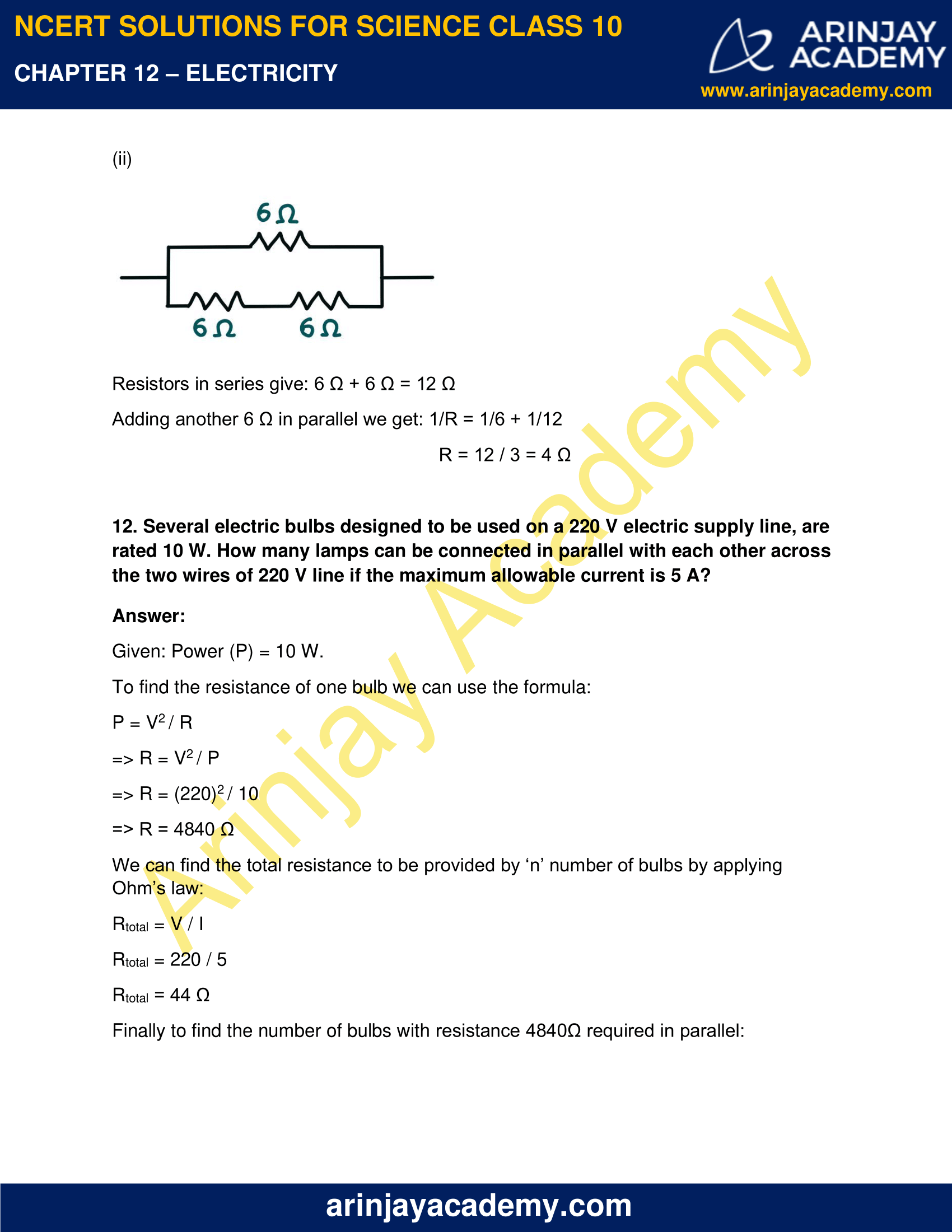NCERT Solutions for Class 10 Science Chapter 12 Electricity image 18