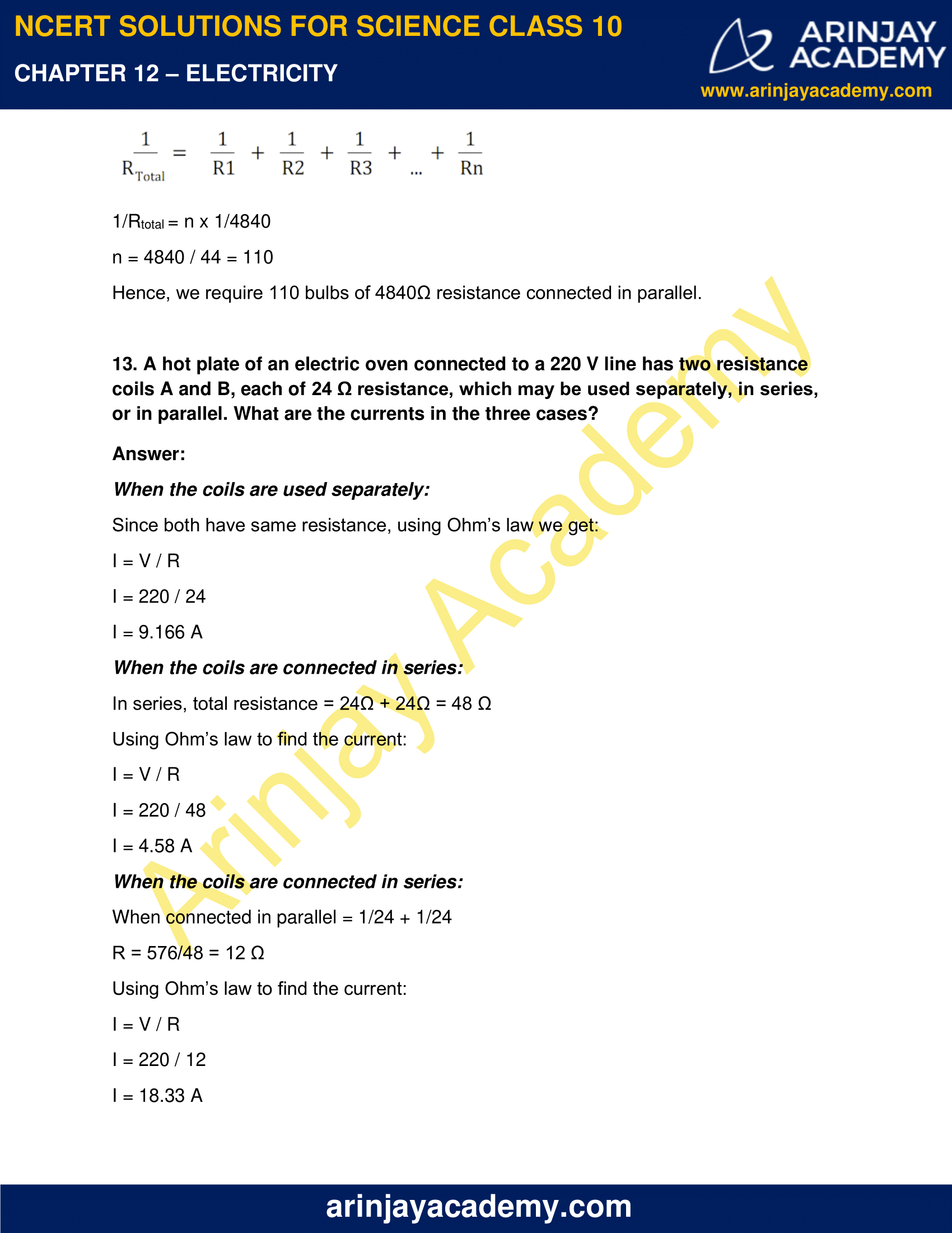 NCERT Solutions for Class 10 Science Chapter 12 Electricity image 19