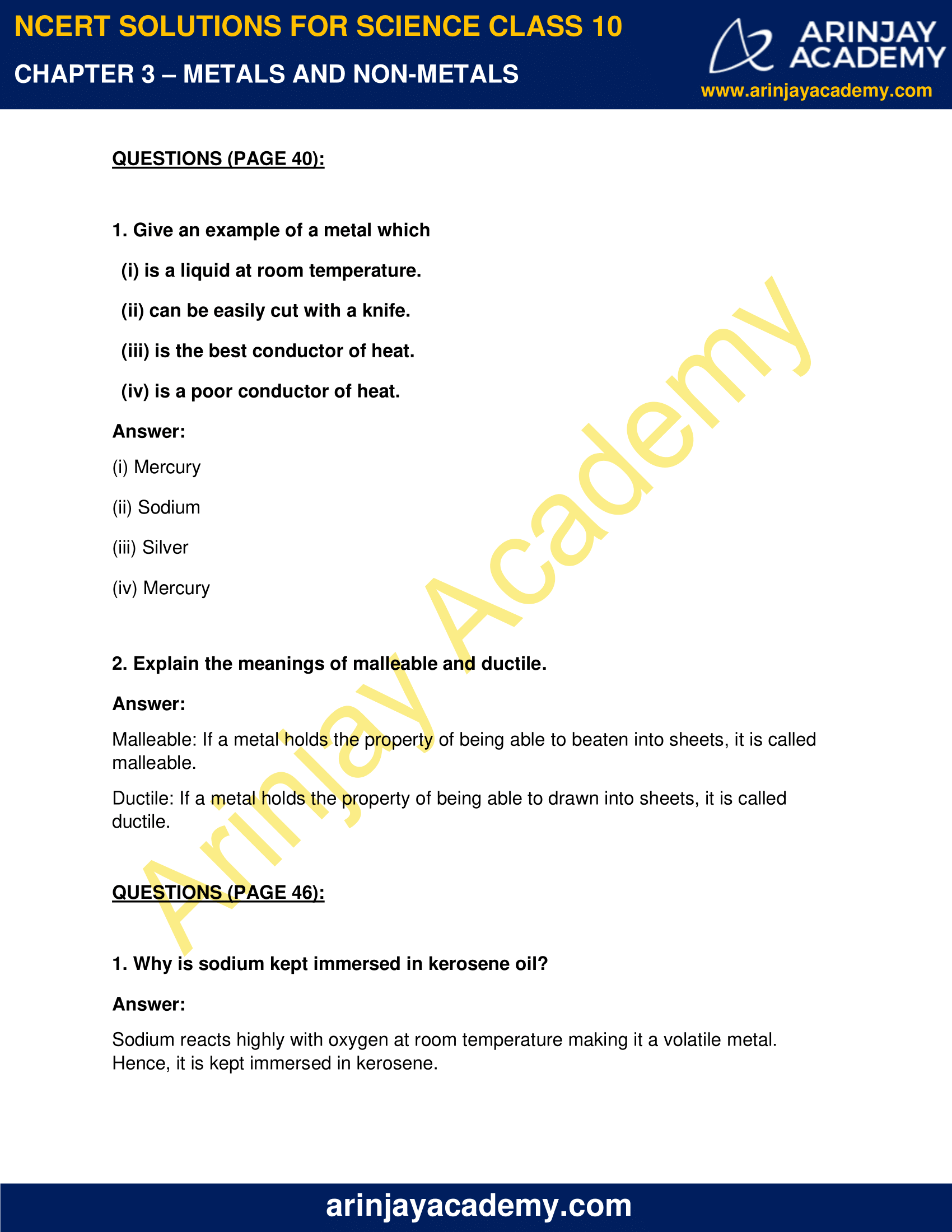 NCERT Solutions for Class 10 Science Chapter 3 image 1