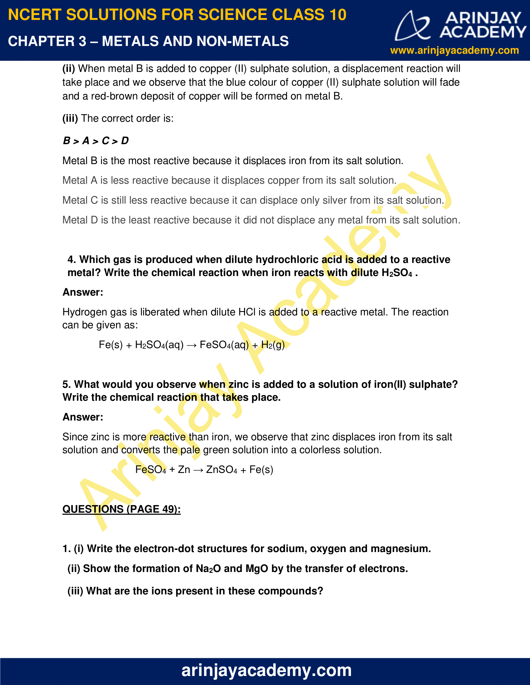NCERT Solutions for Class 10 Science Chapter 3 image 3
