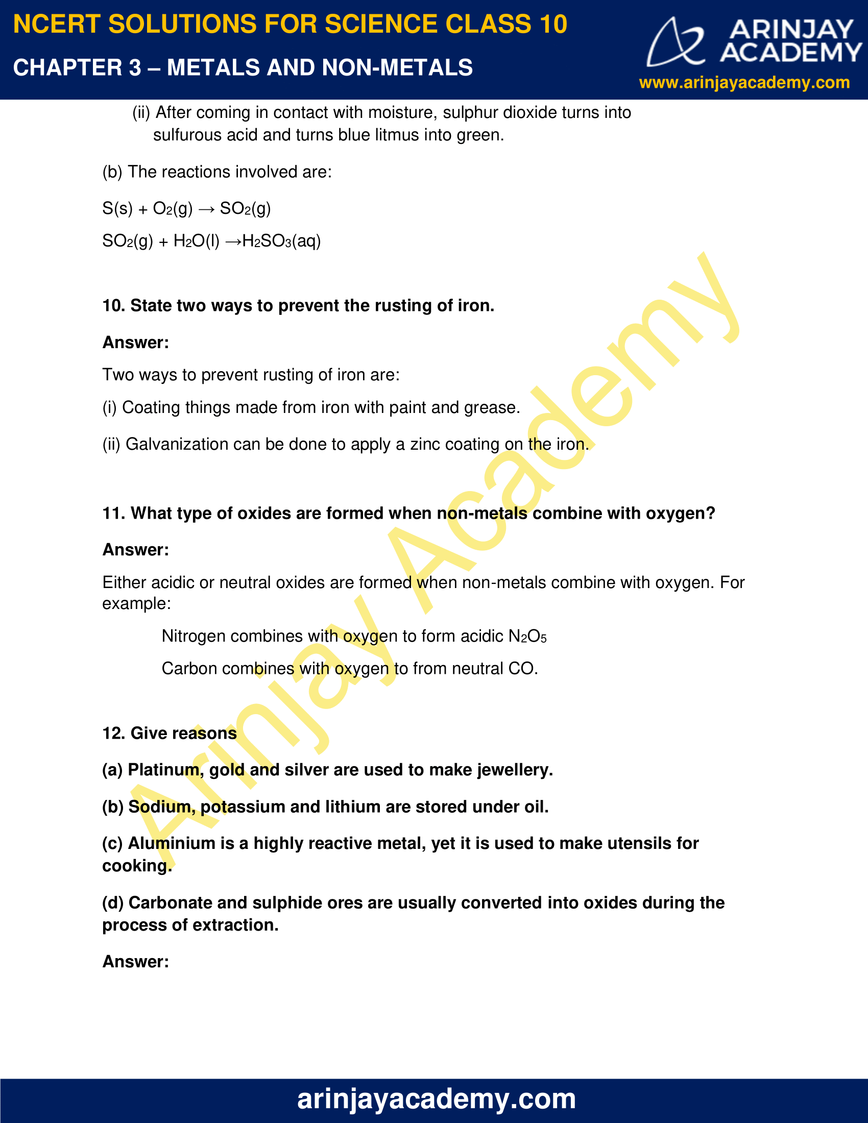 NCERT Solutions for Class 10 Science Chapter 3 image 10