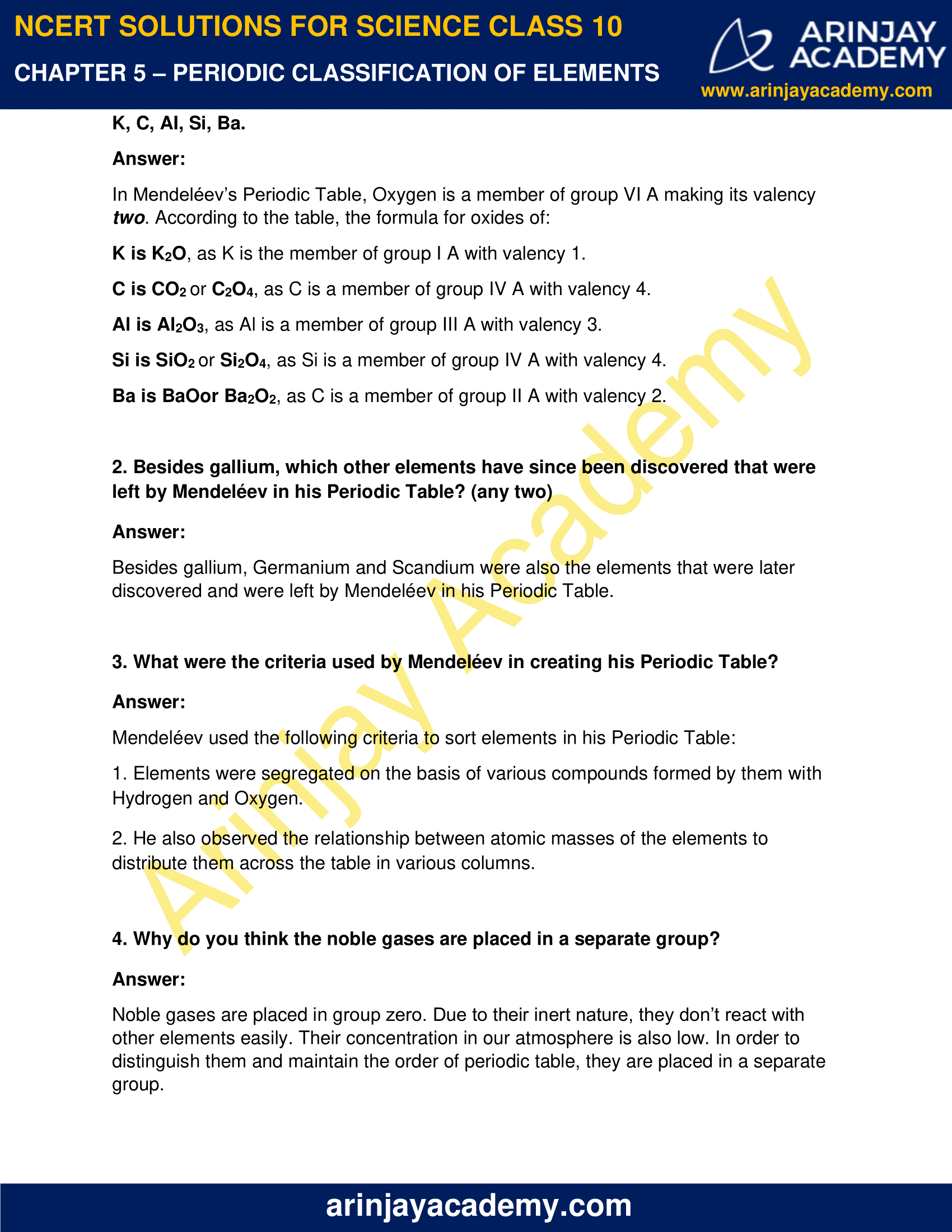NCERT Solutions for Class 10 Science Chapter 5 image 2