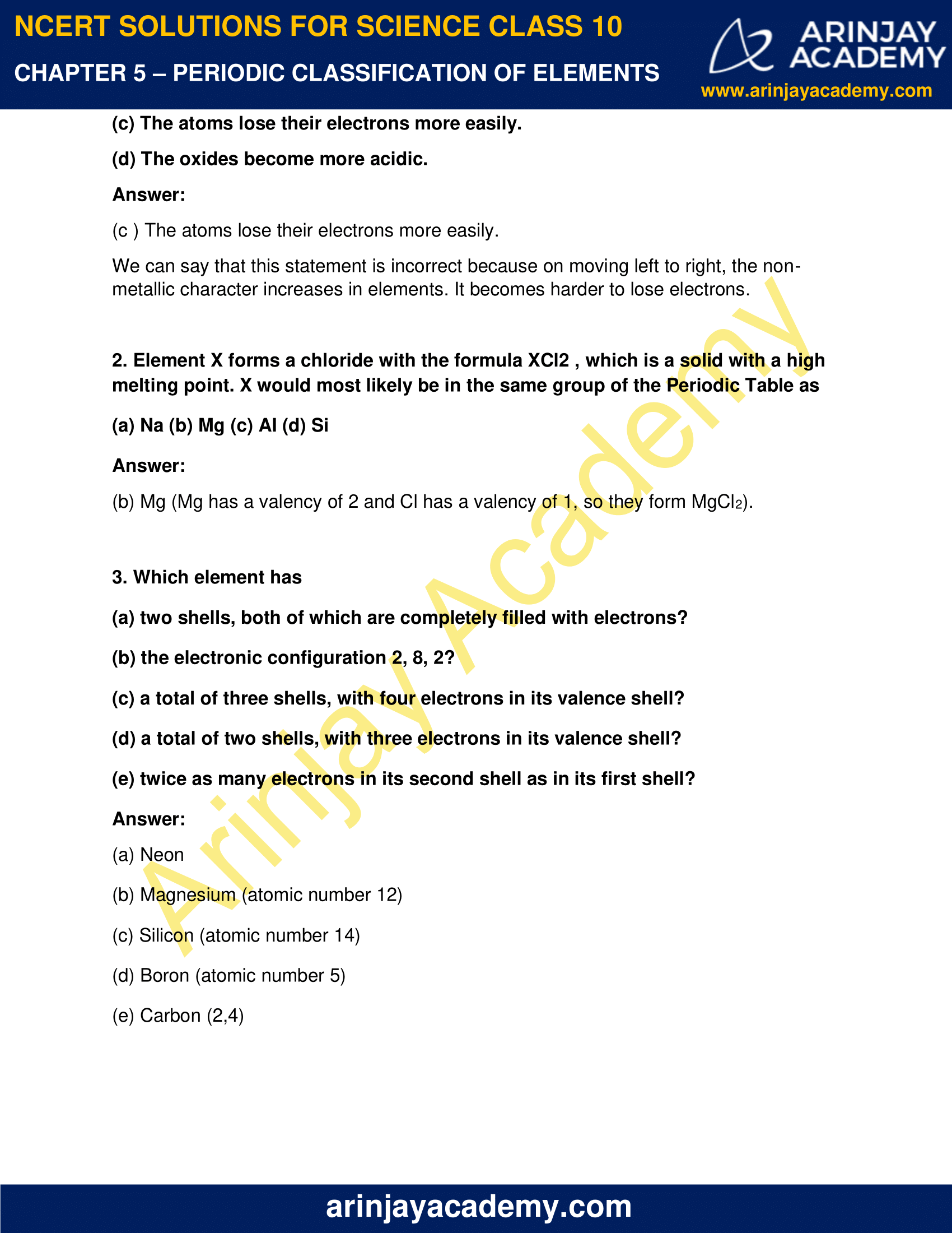 NCERT Solutions for Class 10 Science Chapter 5 image 5