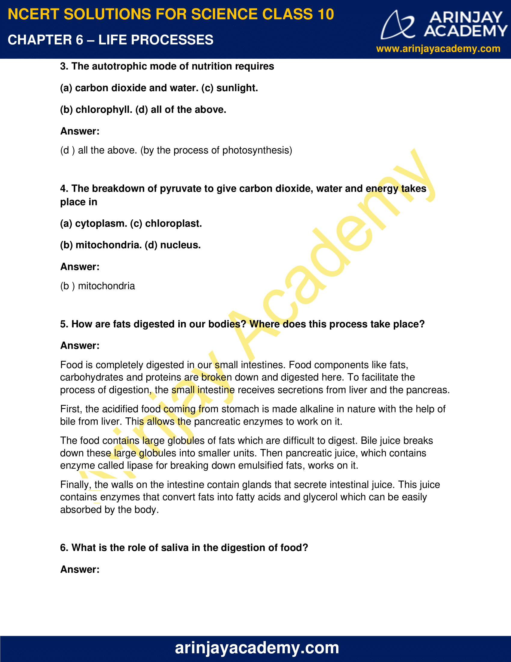 NCERT Solutions for Class 10 Science Chapter 6 image 8