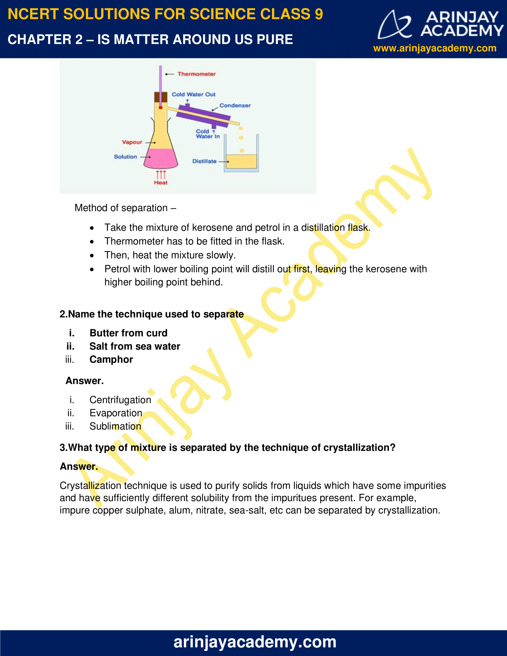 NCERT Solutions for Class 9 Science Chapter 2 Is matter around us pure image 3