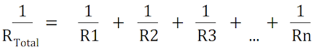 resistance are connected in parallel formula