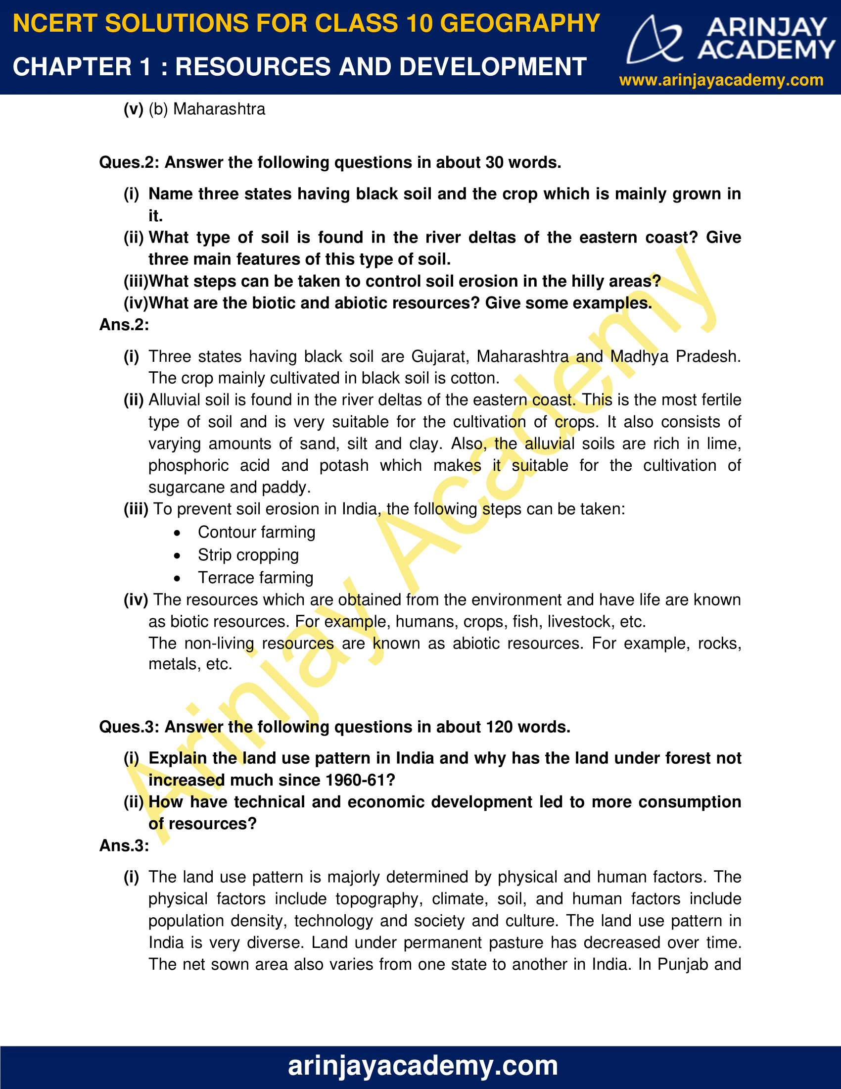 NCERT Solutions for Class 10 Geography Chapter 1 image 2