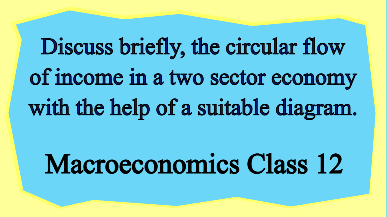 Discuss briefly, the circular flow of income in a two sector economy with the help of a suitable diagram.