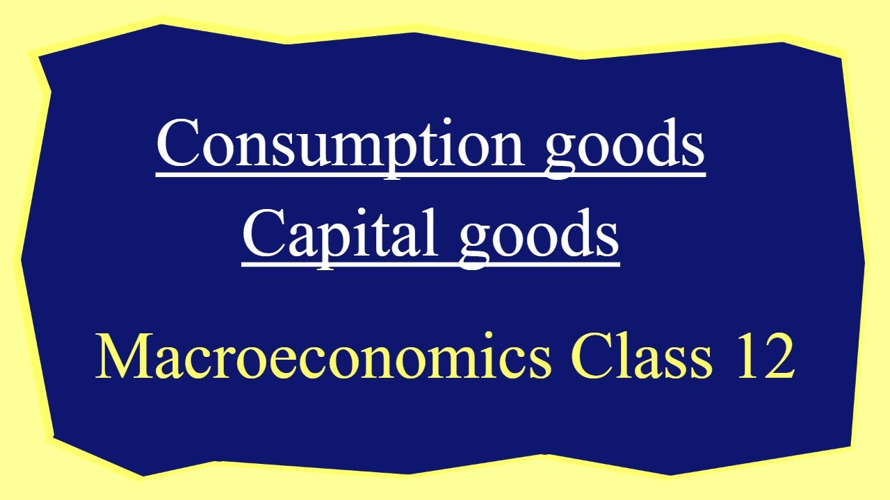 Discuss the meaning of Consumption goods and Capital goods