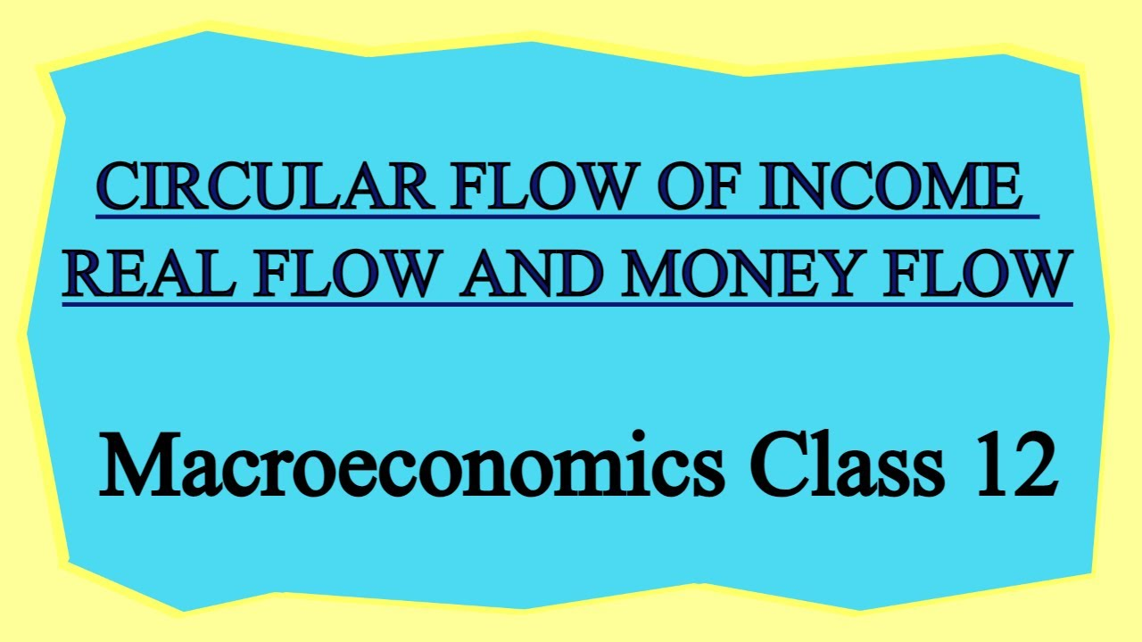 What is meant by circular flow of income? Distinguish between Real flow and Money flow